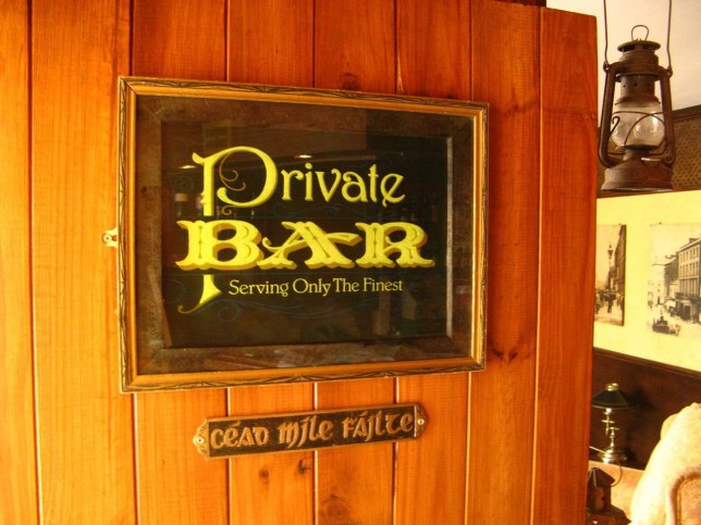 The private bar sign