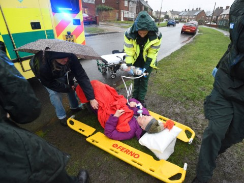 Pensioner, 79, waited two hours for an ambulance in the pouring rain after fall