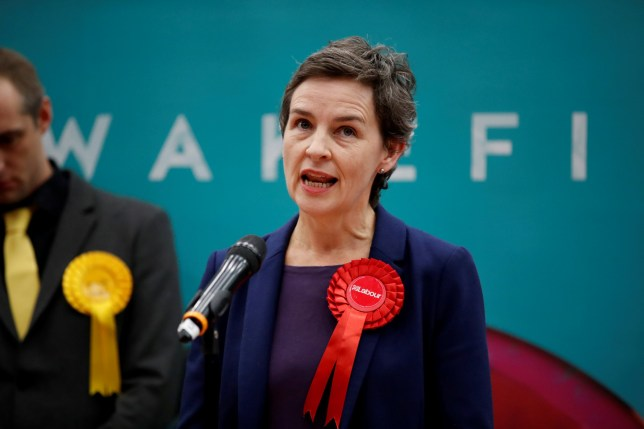 Labour Party candidate Mary Creagh speaks after she lost to Conservatives' Ahmad Imran-Khan for the constituency of Wakefield at a counting centre for Britain's general election in Wakefield, Britain December 13, 2019. REUTERS/Andrew Boyers REFILE - CORRECTING NAMES OF CANDIDATES AND CONSTITUENCY