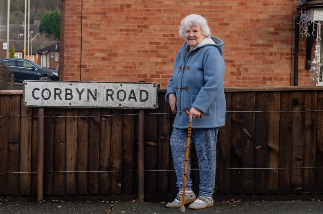 Marion Smith (73) a resident of Corbyn Road, Dudley, West Midlands. December 13, 2019. People living on Corbyn Road have launched a bid to change the street name after the seat swung to the Tories for the first time ever. See SWNS story SWMDcorbyn. The 600m-long residential road is in the heart of Dudley North which was a staunch Labour stronghold until the Tories' stunning election victory. Brexiteer Marco Longhi, 52, is now the first Tory MP to represent the constituency after winning a majority of more than 11,000 votes. Losing Labour candidate Melanie Dudley ??? ironically sharing the name of the constituency she fought ??? blamed Corbyn for the party???s historic loss.