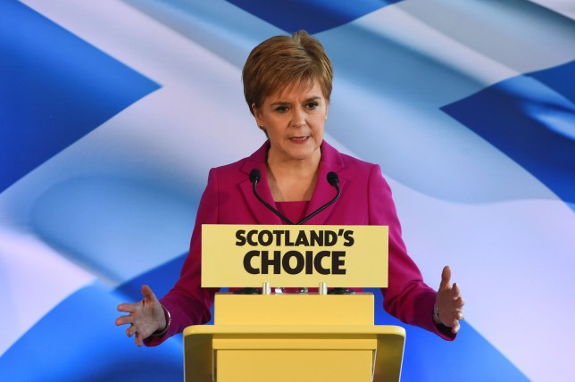 Scottish National Party (SNP) leader and Scotland's First Minister Nicola Sturgeon speaks in Edinburgh on December 13, 2019. - Prime Minister Boris Johnson may be revelling in his mighty election victory but the results in Scotland and Northern Ireland have hinted at battles ahead in trying to keep the United Kingdom together. (Photo by ANDY BUCHANAN / AFP) (Photo by ANDY BUCHANAN/AFP via Getty Images)