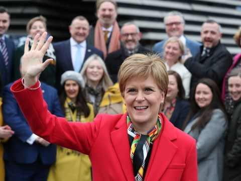 Nicola Sturgeon welcomes new SNP MPs after demanding independence referendum