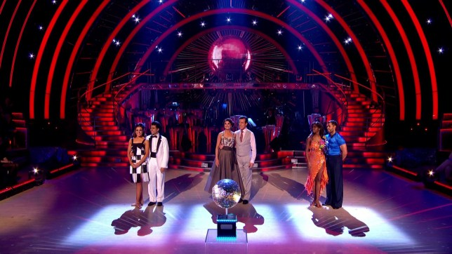 Karim Zeroual and Amy Dowden, Emma Barton and Anton du Beke and Kelvin Fletcher and Oti Mabuse in the Strictly 2019 final