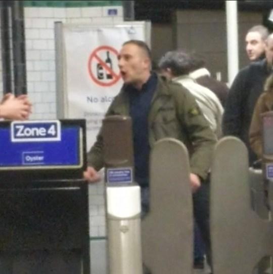 GRABS Yob screams 'f***ing dirty Muslim c***' at London Tube worker