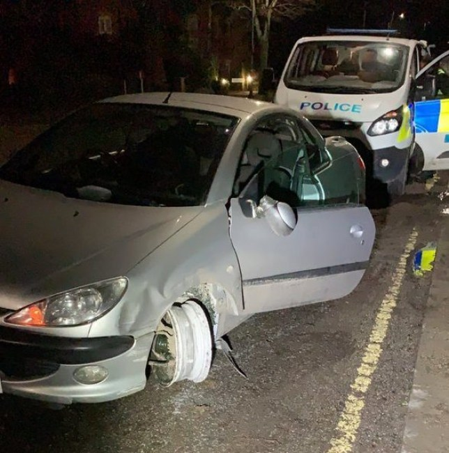 Drunk Driver with missing tyre South Yorkshire Police