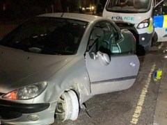 Driver so drunk he didn't realise he'd lost a tyre pulled over by police
