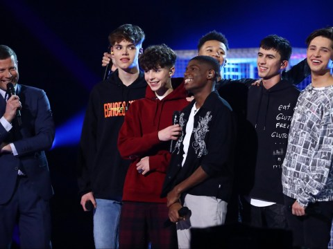 Viewers shocked as X Factor: The Band contestant takes to stage with swear word on jumper