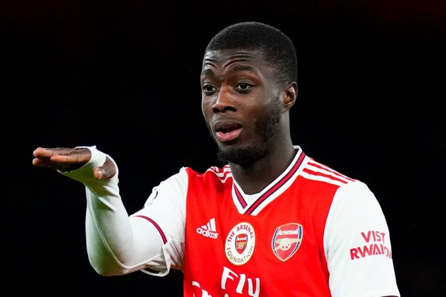 Nicolas Pepe says Arsenal's players need to 'rectify' their current situation