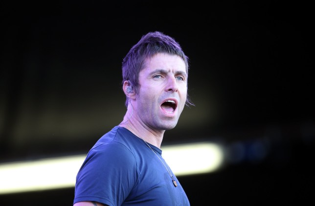 AUCKLAND, NEW ZEALAND - JANUARY 17: Liam Gallagher of Beady Eye performs live for fans during the 2014 Big Day Out Festival at Western Springs on January 17, 2014 in Auckland, New Zealand. (Photo by Jason Oxenham/Getty Images)