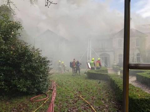Huge fire rips through 18th century Cornish manor house