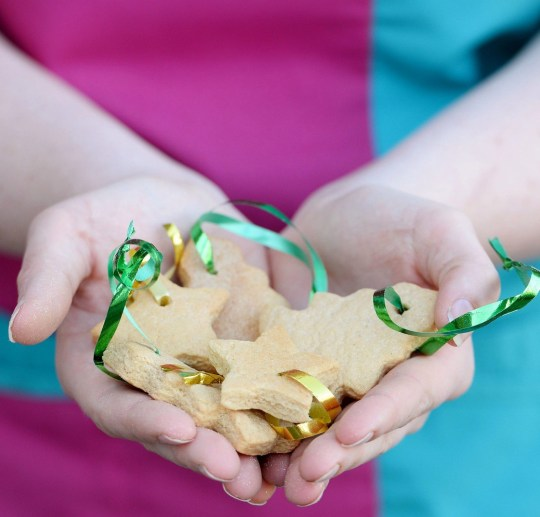 Undated handout photo issued by the PDSA of some of the gingerbread Christmas tree decoration biscuits that Marley, a seven-year-old labrador, gorged on, and as a result he had to undergo two lifesaving operations. PA Photo. Issue date: Sunday December 22, 2019. Owner Rachael Bulmer, from Bournemouth rushed her pet, Marley, to the PDSA Pet Hospital in the Dorset town after it became seriously ill where vets performed emergency surgery on it to remove ribbons attached to the biscuits. See PA story ANIMALS Decorations. Photo credit should read: PDSA/PA Wire NOTE TO EDITORS: This handout photo may only be used in for editorial reporting purposes for the contemporaneous illustration of events, things or the people in the image or facts mentioned in the caption. Reuse of the picture may require further permission from the copyright holder.
