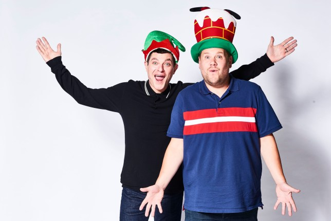 WARNING: Embargoed for publication until 00:00:01 on 07/12/2019 - Programme Name: Gavin and Stacey - TX: n/a - Episode: Gavin and Stacey Christmas Special 2019 (No. n/a) - Picture Shows: Gavin Shipman (MATHEW HORNE), Neil 'Smithy' Smith (JAMES CORDEN) - (C) GS TV Productions Ltd - Photographer: Tom Jackson