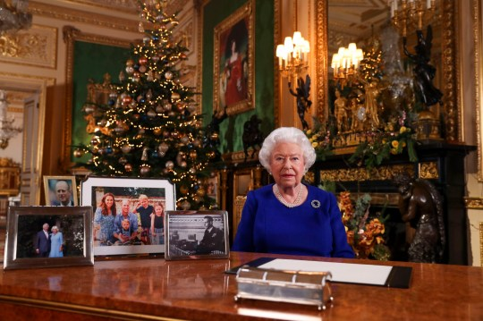 "Embargoed to 1510 Wednesday December 25 Queen Elizabeth II records her annual Christmas broadcast in Windsor Castle, Berkshire. The Queen has been ""struck"" by the ""sense of purpose"" younger generations have shown in tackling issues like climate change, she said in her Christmas Day message. PA Photo. Issue date: Wednesday December 25, 2019. Her comments follow a year which has seen young people inspired to become environmental campaigners by the example of schoolgirl activist Greta Thunberg. See PA story ROYAL Queen. Photo credit should read: Steve Parsons/PA Wire"