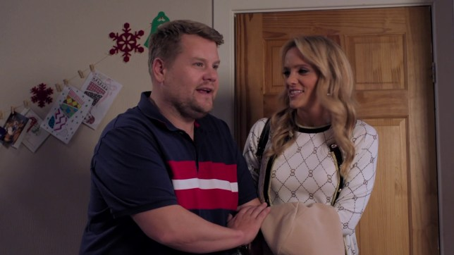 James Corden and Laura Aikman in Gavin and Stacey's Christmas special