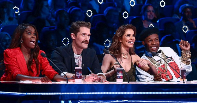 WARNING: Embargoed for publication until 00:00:01 on 27/12/2019 - Programme Name: The Greatest Dancer - TX: n/a - Episode: n/a (No. 1) - Picture Shows: ***EMBARGOED UNTIL 27th DEC 2019*** Oti Mabuse, Matthew Morrison, Cheryl, Todrick Hall, Jordan Banjo, Alesha Dixon - (C) Syco/Thames - Photographer: Tom Dymond