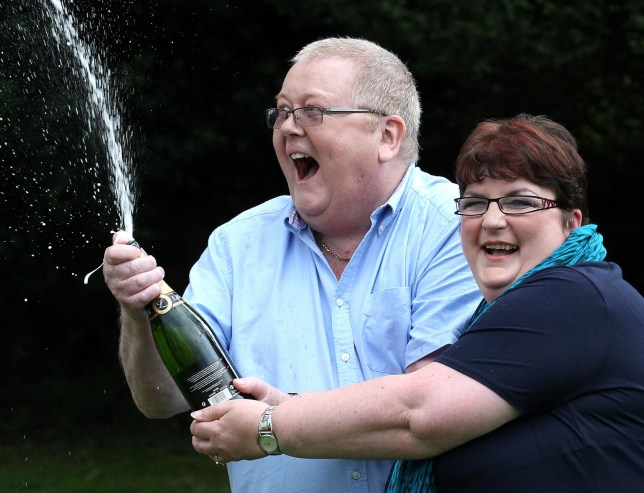 File photo dated 15/07/11 of Colin Weir with ex-wife Chris after winning a EuroMillions jackpot of ??161 million. Colin Weir has died after a short illness, his lawyers said. PA Photo. Issue date: Friday December 27, 2019. See PA story DEATH EuroMillions. Photo credit should read: Andrew Milligan/PA Wire