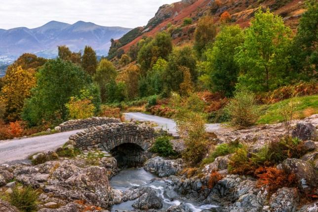 Autumn Colours, Ashness Bridge, Keswick, Lake District, Cumbria, England