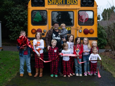 Granddad buys a yellow bus to fulfil dream of taking his 10 grandkids to school every day