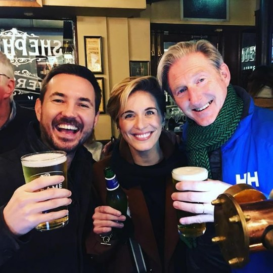 Line of Duty cast at the pub