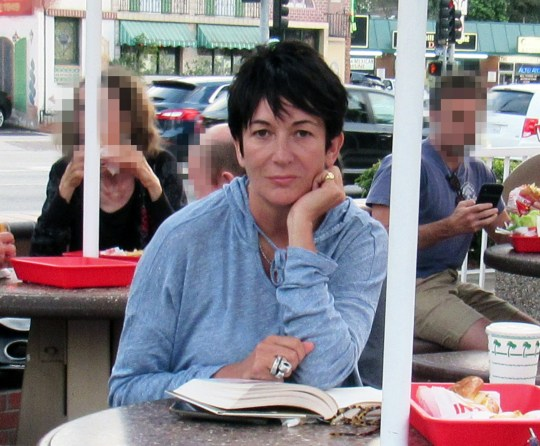 *PREMIUM EXCLUSIVE MINIMUM REPRO FEE 850 POUNDS PER IMAGE* Ghislaine Maxwell, Jeffrey Epstein???s former right hand woman, tucks into burger and fries at a fast-food joint in Los Angeles. Maxwell, 57, the alleged madam to the multi-millionaire paedophile, was spotted with shake al fresco at an In-N-Out Burger on Monday Aug 12 while reading ???The Book of Honor: The Secret Lives and Deaths of CIA Operatives,??? a nonfiction best seller by journalist Ted Gup. Sitting alone with her pet dog, she was surprised to be found and told a member of the public who immediately recognised her, and took the amazing photographs , ???Well, I guess this is the last time I???ll be eating here!??? Maxwell, accused in court papers of providing sex slaves for Epstein and engaging in threesomes with the financier and underage girls, had not been photographed in public since 2016. The daughter of the late, disgraced publishing tycoon Robert Maxwell has not been charged with any crimes but could find herself in the feds??? crosshairs following Epstein???s apparent jailhouse suicide Saturday. One of Epstein???s accusers, Jennifer Araoz, on Wednesday sued his estate, as well as Maxwell and three unidentified women for conspiring ???to make possible and otherwise facilitate the sexual abuse and rape of [Araoz].??? It???s not the first time Maxwell has been accused of luring young women and girls into the convicted pedophile???s web. Another accuser, Virginia Giuffre ??? who has said she had sex with England???s Prince Andrew and noted attorney Alan Dershowitz at Epstein???s command ??? sued the socialite for defamation in 2015 after Maxwell publicly stated Giuffre was lying about being sexually abused by Epstein. Giuffre claimed Maxwell recruited her when she was a 16-year-old spa attendant at President Trump???s Mar-a-Lago resort in Palm Beach, Fla., and trained her to be Epstein???s sex slave. Maxwell has denied the allegations. A recently unsealed trove of documents from Giuffre???s lawsu