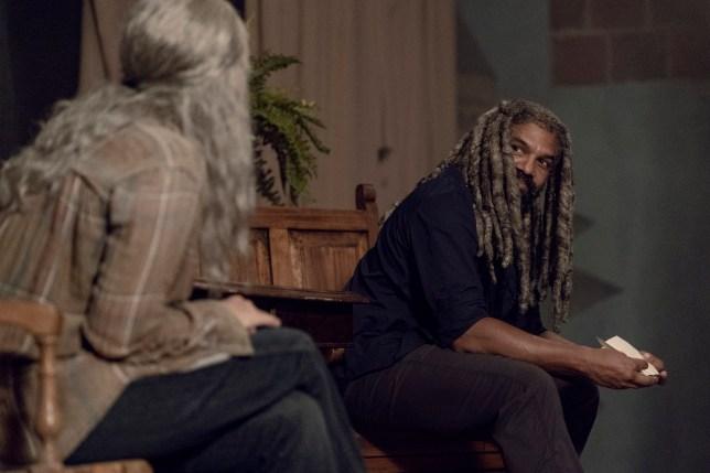 Khary Payton as Ezekiel, Melissa McBride as Carol Peletier The Walking Dead