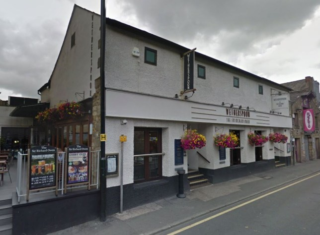 Customers at the Sir Richard Owen have complained about how ill they were left (Picture: Google Street View)