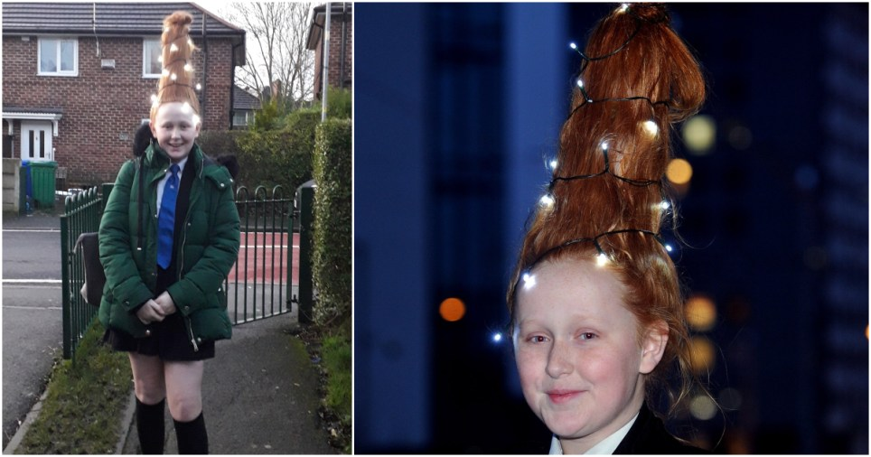 School orders girl to go home or take Christmas tree out of her hair