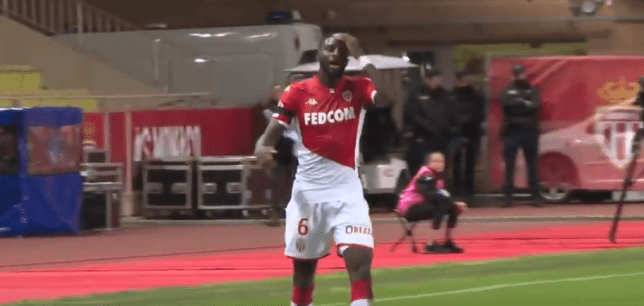 Chelsea loanee Tiemoue Bakayoko puts his hand on his head after trying to sub himself off for Monaco