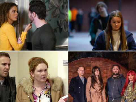 12 soap spoiler pictures: EastEnders abuse, Coronation Street police shock, Emmerdale burglary, Hollyoaks late-night special