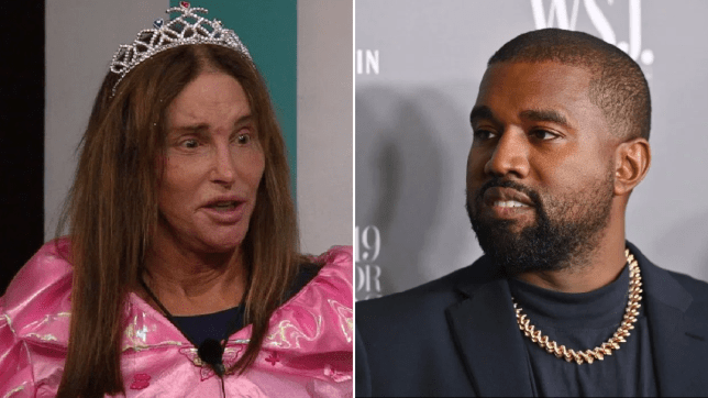 Caitlyn Jenner and Kanye West
