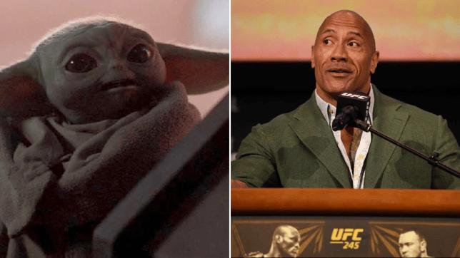 The Dwayne Johnson And Baby Yoda Crossover Has Finally