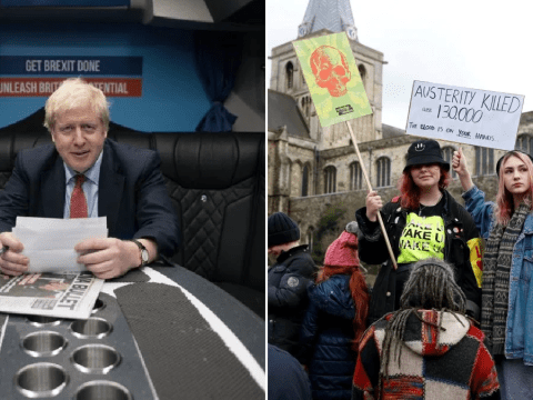 Boris Johnson cancels speech last minute after handful of protesters turn up