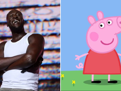 Stormzy has no idea what's going on as Peppa Pig follows him and fans call for collaboration