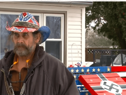 Painter with Nazi and Confederate flags displayed at his house says he isn't racist