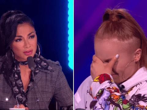 Nicole Scherzinger tears up after emotional performance from X Factor: The Band contestant