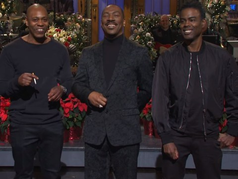 Eddie Murphy takes swipe at Bill Cosby as he hosts Saturday Night Live for first time in 35 years