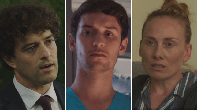 Lofty, Cameron and Jac in Holby City