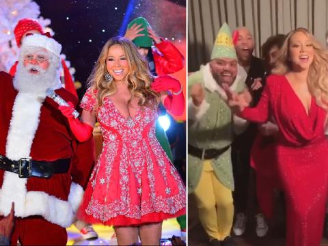 Mariah Carey kicks off the Christmas countdown with festive lip sync and a dancing elf