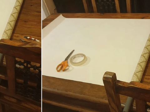 Mum's mop handle hack makes Christmas present wrapping much easier