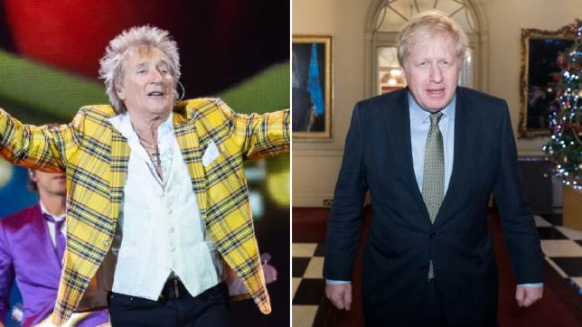 Fans fume as Rod Stewart congratulates Boris Johnson on election win