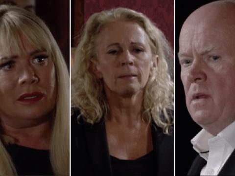 EastEnder spoilers: Shocking scenes as Lisa Fowler reveals Sharon Mitchell's secret at Mel Owen's funeral