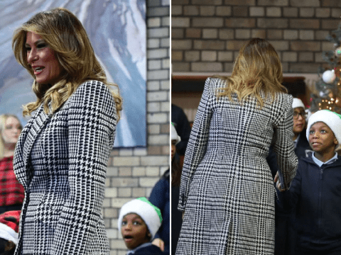 Child is completely star struck at seeing Melania Trump visit Salvation Army