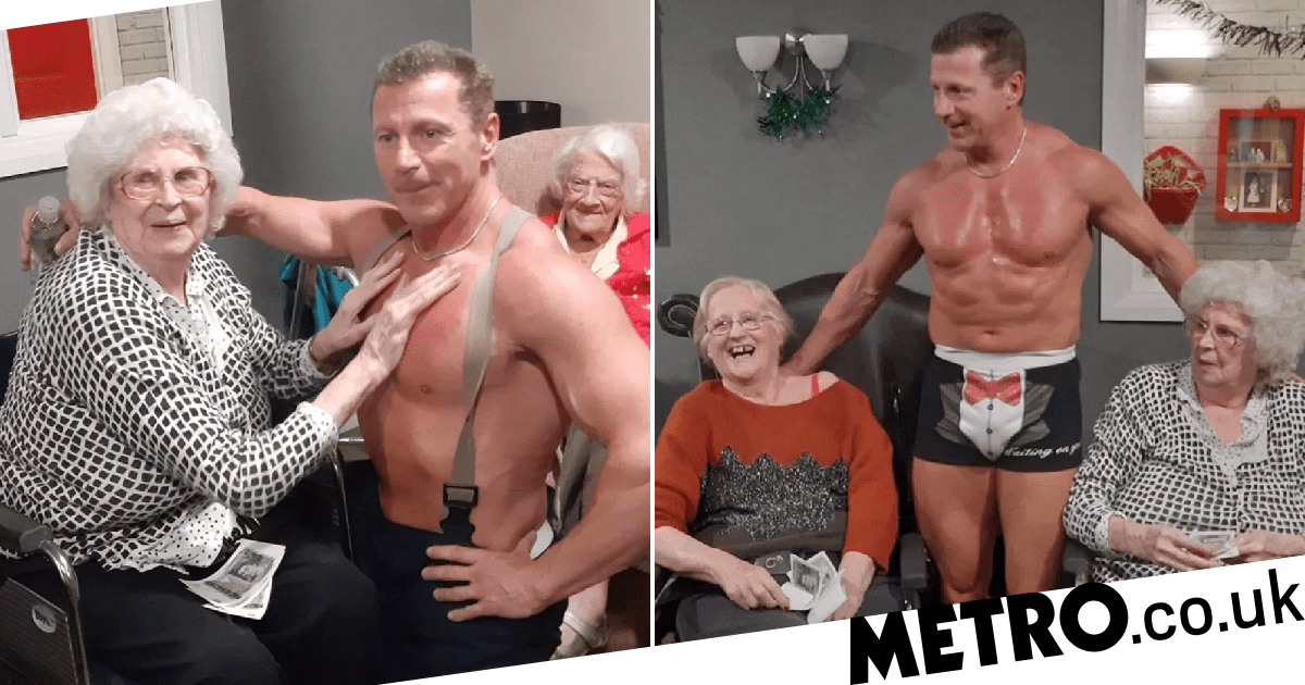 Pensioner, 89, 'loved every second' of stripper's visit to care home