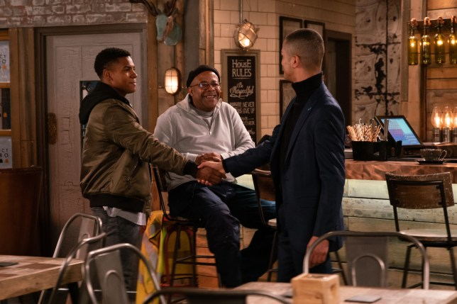 James, Ed and Danny in Coronation Street