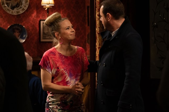 Linda Carter and Mick Carter in EastEnders