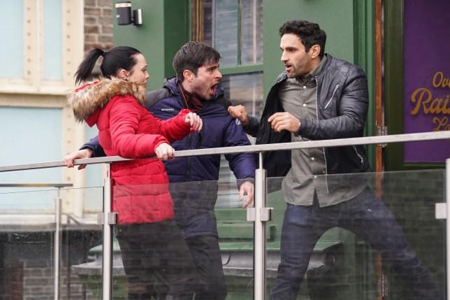 Kush, Leo and Whitney in EastEnders