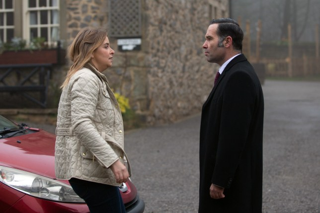Charity Dingle and Graham Foster in Emmerdale