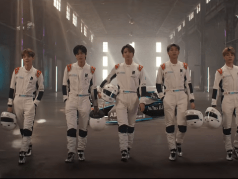 BTS as Formula E drivers? Band swaps microphones for helmets in quest to change the world