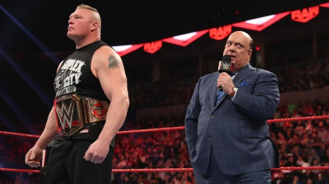 Brock Lesnar and Paul Heyman make an announcement