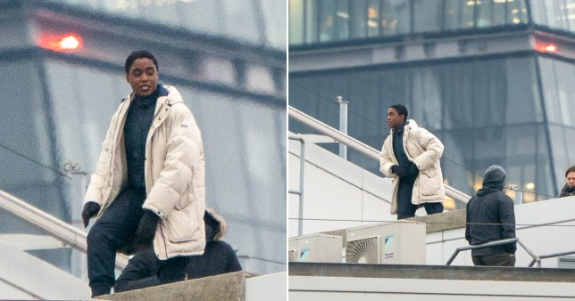 Lashana Lynch channels her inner 007 while jumping off rooftops to film new advert in London
